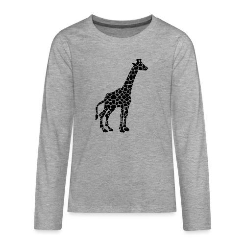 Giraffe (black) - Teinien premium pitkähihainen t-paita
