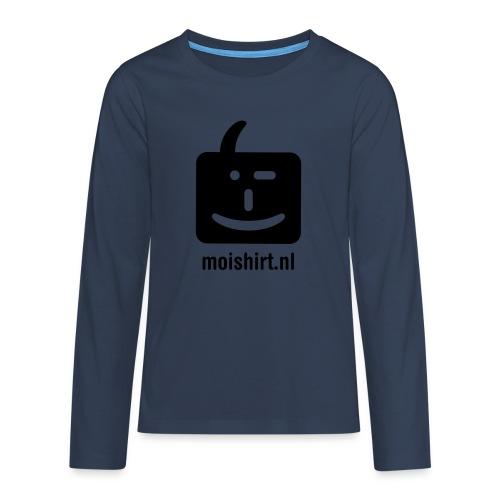 moi shirt back - Teenager Premium shirt met lange mouwen