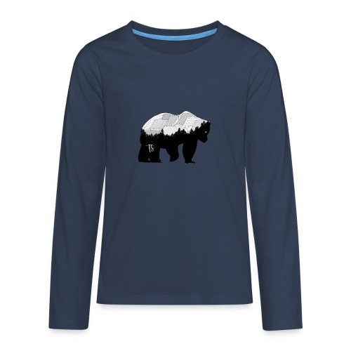 Geometric Mountain Bear - Maglietta Premium a manica lunga per teenager