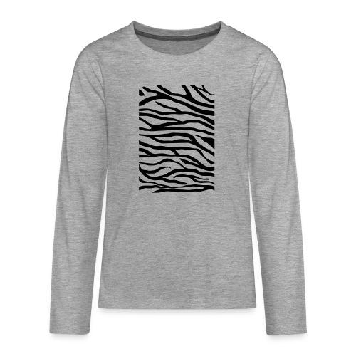 zebra v6 - Teenager Premium shirt met lange mouwen