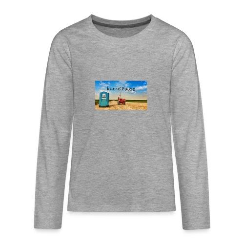 kurze Pause - Teenager Premium Langarmshirt