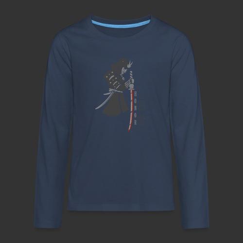 Samurai Digital Print - Teenagers' Premium Longsleeve Shirt