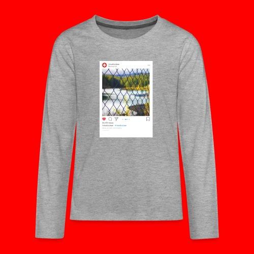 travelsuisse - Caumasee Zaun - Teenager Premium Langarmshirt