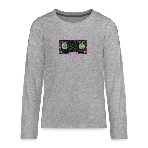 T-shirts design electronic music - Teenagers' Premium Longsleeve Shirt