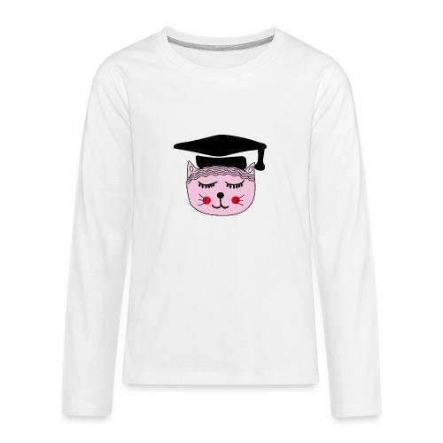 Akademikerin Katze - Teenager Premium Langarmshirt