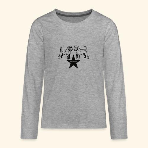 Brussels Griffon Logo - T-shirt manches longues Premium Ado