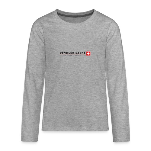 Sondler Szene Schweiz Logo breit - Teenager Premium Langarmshirt