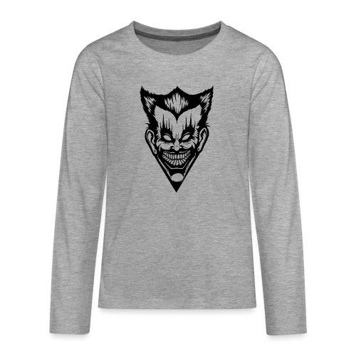Horror Face - Teenager Premium Langarmshirt