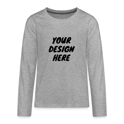 print file front 9 - Teenagers' Premium Longsleeve Shirt