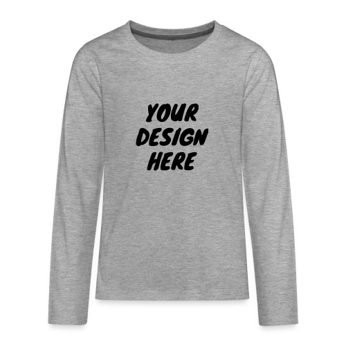 printfile front 9 - Långärmad premium T-shirt tonåring