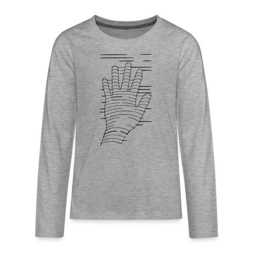 Eigene Hand - Teenager Premium Langarmshirt