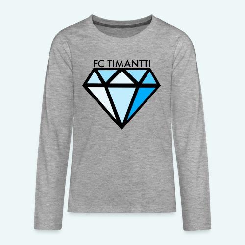 FC Timantti mustateksti - Teinien premium pitkähihainen t-paita