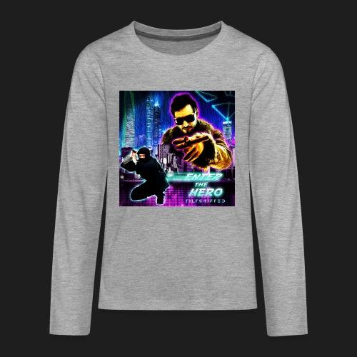 Enter the Hero - Teinien premium pitkähihainen t-paita