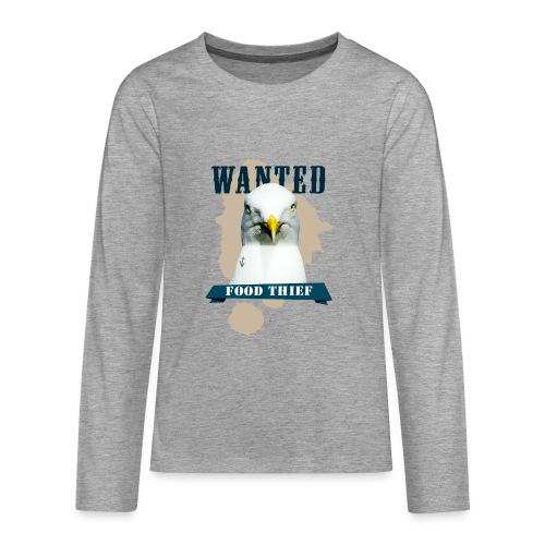 WANTED - FOOD THIEF - Teenager Premium Langarmshirt