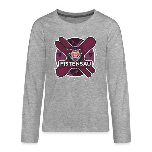 PistenSau Lachshimmel - Teenager Premium Langarmshirt