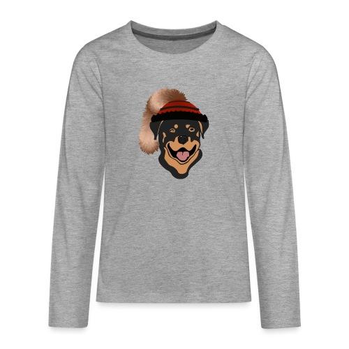 Rottweiler mit Wadelkappe - Teenager Premium Langarmshirt