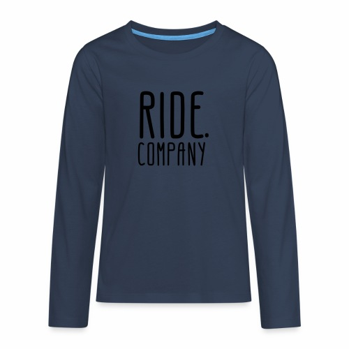 RIDE.company - just RIDE - Teenager Premium Langarmshirt