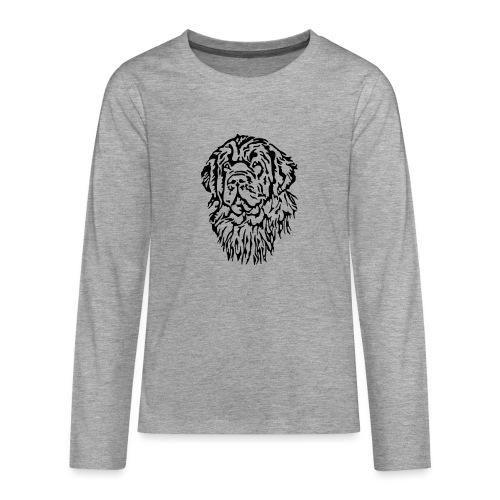 Neufundländer Kopf - Teenager Premium Langarmshirt