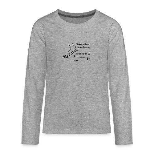 EARheine Logo schwarz - Teenager Premium Langarmshirt