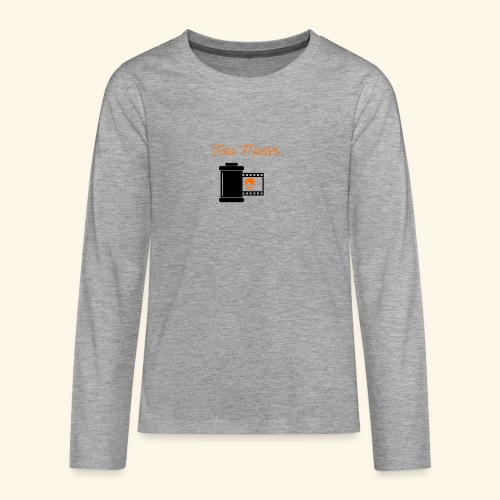 Foto Master - Teenager premium T-shirt med lange ærmer
