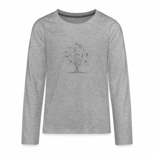 Interpretacja woodspace - Koszulka Premium z długim rękawem dla nastolatków