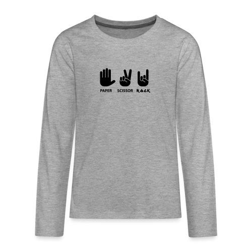 papier ciseaux roche c - T-shirt manches longues Premium Ado