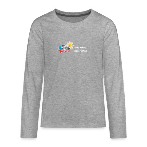 Philippinen-Blog Logo english schwarz/weiss - Teenager Premium Langarmshirt
