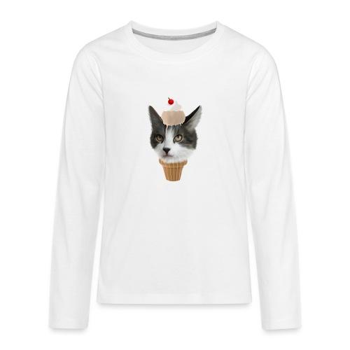 Ice Cream Cat - Teenager Premium Langarmshirt