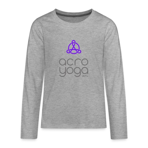 AcroYoga International Logo - Teenagers' Premium Longsleeve Shirt