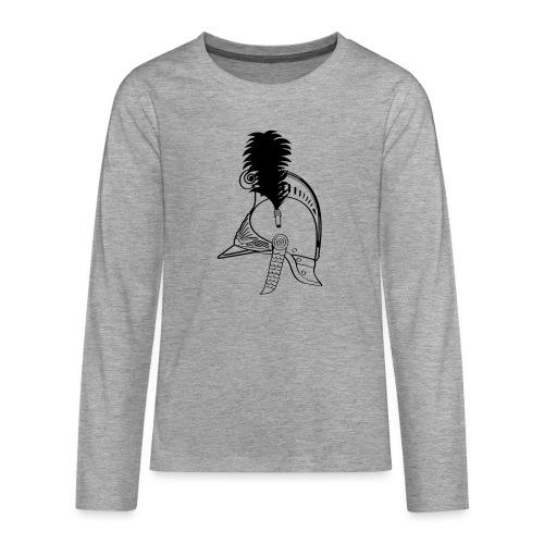 vieux_casque_1c - T-shirt manches longues Premium Ado