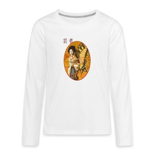 Vintage Japanese Geisha Oriental Design - Teenagers' Premium Longsleeve Shirt