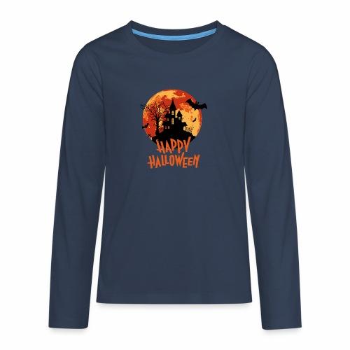 Bloodmoon Haunted House Halloween Design - Teenager Premium Langarmshirt