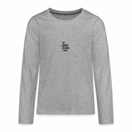 Mont Blanc et courbes de niveau - T-shirt manches longues Premium Ado