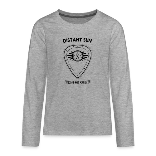 Distant Sun - Mens Slim Fit Black Logo - Teenagers' Premium Longsleeve Shirt
