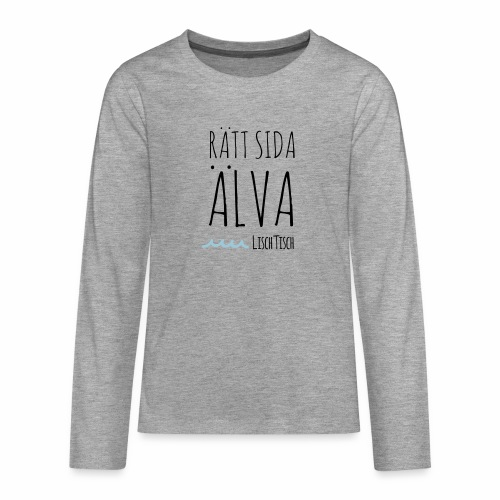 Rätt sida Älva - Långärmad premium T-shirt tonåring