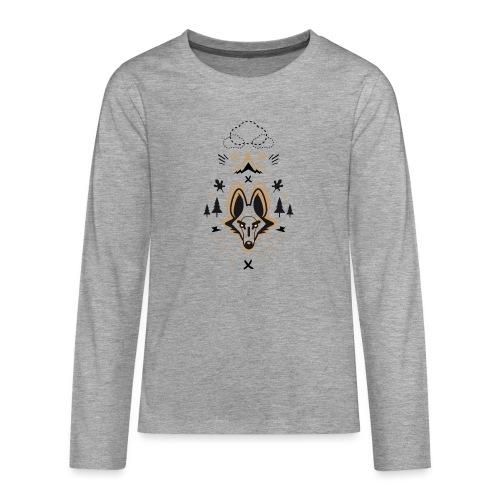 loup or - T-shirt manches longues Premium Ado
