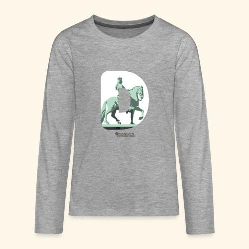 Düsseldorf T-Shirt Jan Wellem D weiß - Teenager Premium Langarmshirt