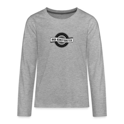 Inga Konstigheters klassiska logga (ljus) - Långärmad premium T-shirt tonåring