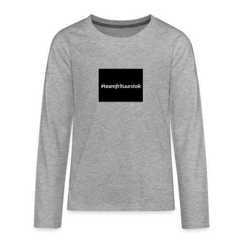 #teamfrituurstok - Teenager Premium shirt met lange mouwen
