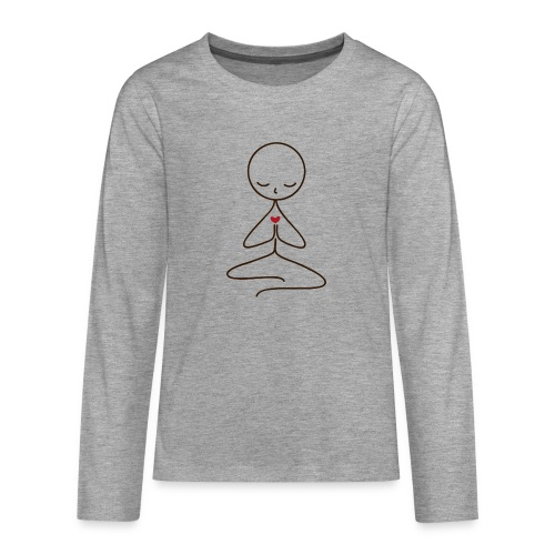 Peace & Love - Långärmad premium T-shirt tonåring