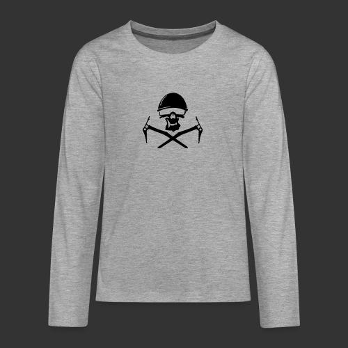 Climbing Skull - Teenager Premium Langarmshirt