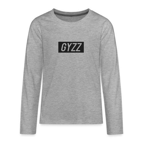 Gyzz - Teenager premium T-shirt med lange ærmer