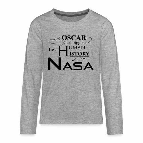 Flat Earth Nasa - Teenager Premium Langarmshirt