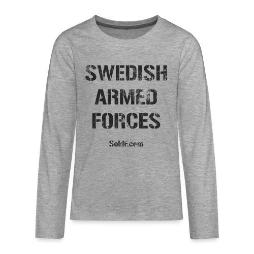 Swedish Armed Forces - Långärmad premium T-shirt tonåring