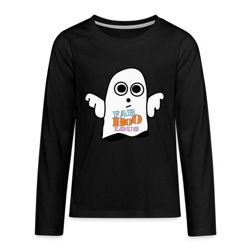 Halloween Geist BOO - Teenager Premium Langarmshirt