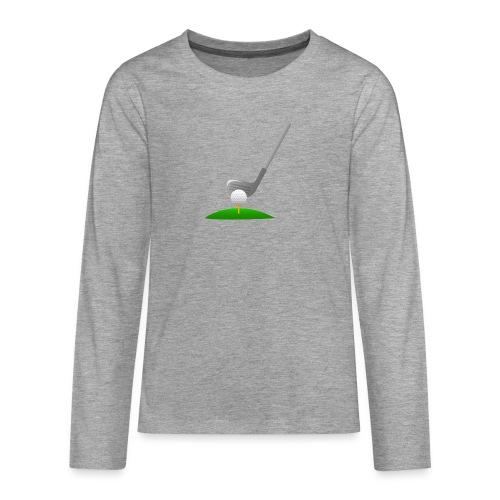 Golf Ball PNG - Camiseta de manga larga premium adolescente