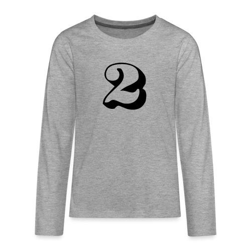 cool number 2 - Teenager Premium shirt met lange mouwen
