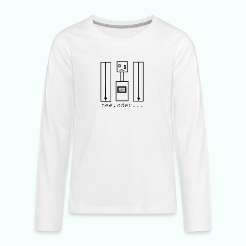usa ... nee, oder - Teenager Premium Langarmshirt