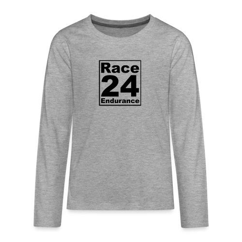 Race24 logo in black - Teenagers' Premium Longsleeve Shirt