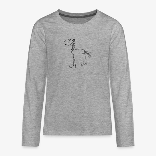 horse1 - Koszulka Premium z długim rękawem dla nastolatków